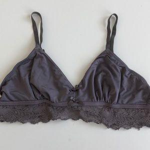 Anthropologie Eloise Purple Bralette Large